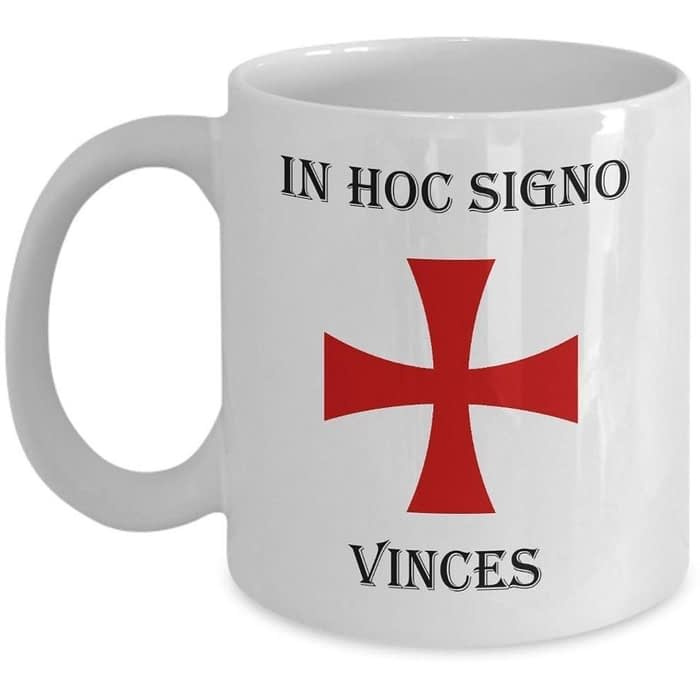 In Hoc Signo Vinces Malta Knights Templar Coffee Mug Coffee Mugs In Hoc Signo Vinces Chi Rho Coffee Mug