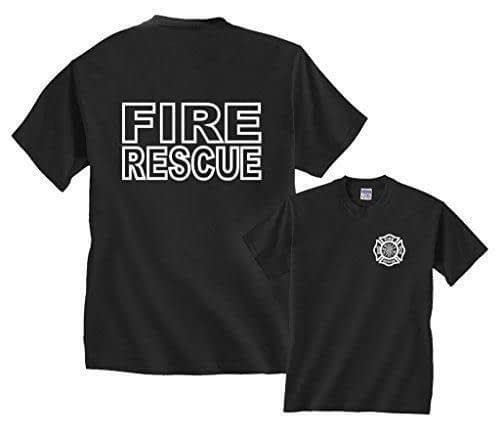 Fire Rescue Maltese Cross Firefighter Badge Front & Back Firefighters [tag]