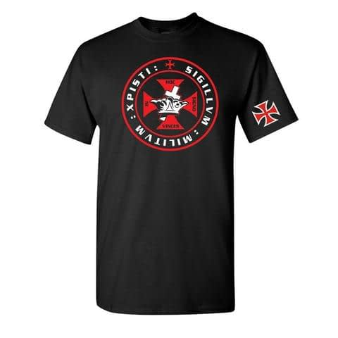 Knights Templar Crown and Cross T-Shirt Knights Templar Crown and Cross