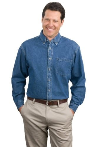 Port Authority Men's Heavyweight Denim Shirt Home [tag]