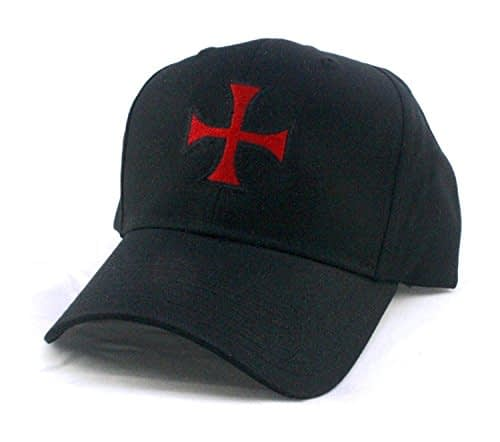 Templar Cross – Knights Christian Jesus Christ GOD – Twill Pro Style Baseball Cap Hat Black Home [tag]