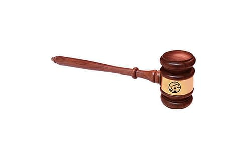 Scales of Justice Attorney Judges Gavel Hardwood 10.5 Inch Gavels [tag]