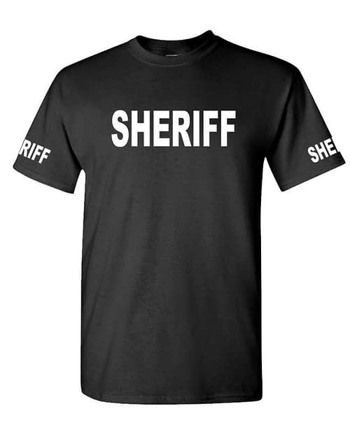 SHERIFF – Cotton T-Shirt Tee Shirt Home [tag]
