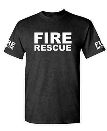 FIRE RESCUE – ems emt emergency service – Mens Cotton T-Shirt Firefighters Fire Rescue
