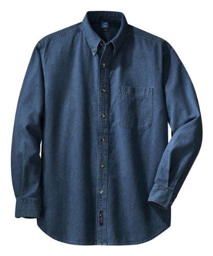 PORT AND COMPANY Long Sleeve Value Denim Shirt (SP10) Home [tag]