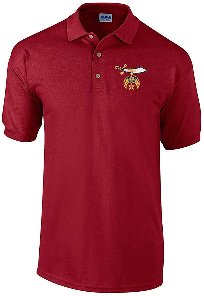 Shriners Polo Golf Shirt Freemason [tag]