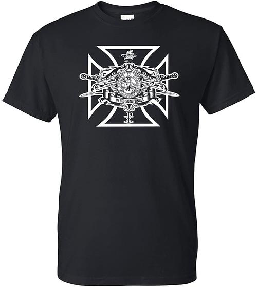 Logoz USA Knights Templar Swords and Seal Mason Blue Lodge Masonic Biker T Shirt Home [tag]