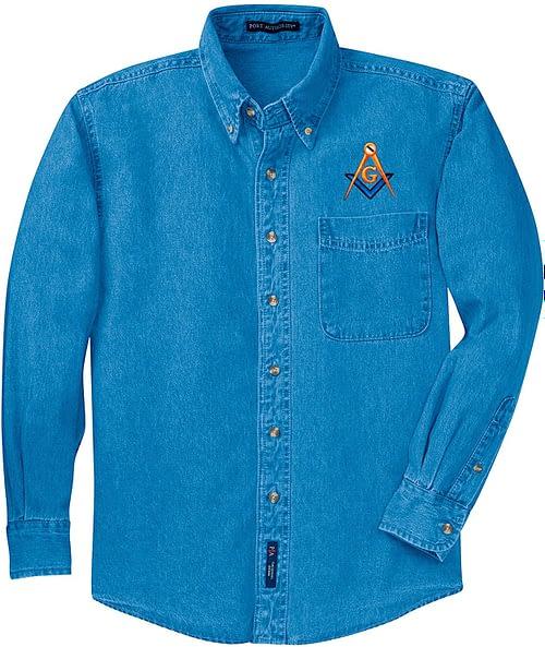 Mason Denim Shirt Freemason Masonic Dress Shirt Freemason 2b1ask1