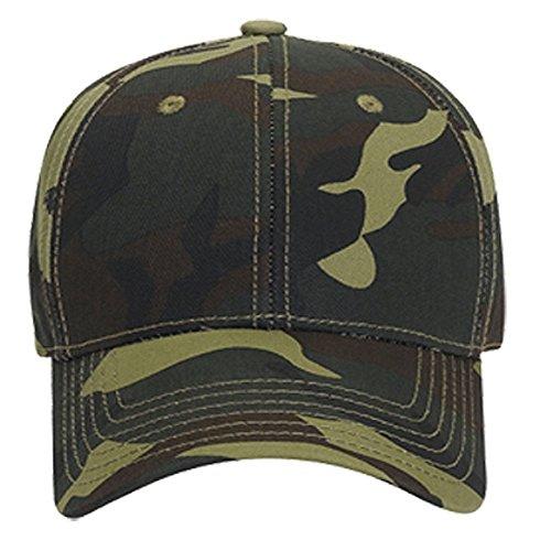 Logoz USA Camouflage Garment Washed Cotton Twill SIX Panel Low Profile Baseball Cap [category] [tag]
